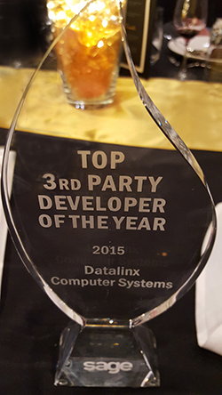 Sage award - top 3rd party developer
